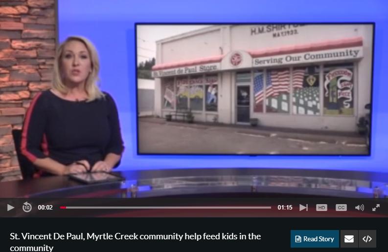 food bank, myrtle creek, news article
